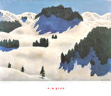 Winter Landscape Print by Alfons Walde