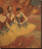Three Dancers in Yellow Skirts, 1891 Stretched Canvas Print by Degas Edgar
