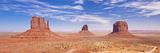 West and East Mitten Butte and Merrick Butte, Monument Valley Navajo Tribal Pk, Arizona, USA Photographic Print by Neale Clark