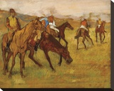 Before the Race, between 1882 and 1884 Stretched Canvas Print by Edgar Degas