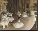Ballet Rehearsal on Stage, 1874 Stretched Canvas Print by Degas Edgar