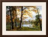 A Quiet Lake Framed Giclee Print by Albert Bierstadt