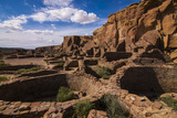 Chaco Ruins in the Chaco Culture Nat'l Historic Park, UNESCO World Heritage Site, New Mexico, USA Photographic Print by Michael Runkel