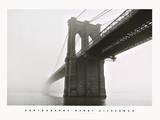 Brooklyn Bridge Fog Prints by Henri Silberman