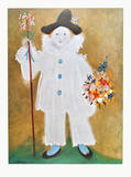 The Artist's Son Pierrot with Flowers , 1929 Poster von Pablo Picasso