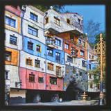 Hundertwasser-House, Vienna Plakat af Friedensreich Hundertwasser