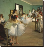 The Dance Class, 1874 Stretched Canvas Print by Degas Edgar
