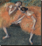 Two Dancers, ca. 1898 Stretched Canvas Print by Degas Edgar