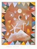 Above the Mountain Peaks Prints by Paul Klee
