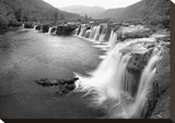 New River Falls Stretched Canvas Print by Stephen Gassman