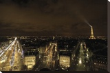 Paris Nights II Stretched Canvas Print by Irmak Sabri