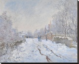 Snow at Argenteuil, 1875 Stretched Canvas Print by Monet Claude