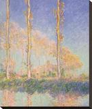 Poplars (Autumn), 1891 Reproduction transférée sur toile par Claude Monet