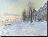 Lavacourt, under Snow, ca. 1878-1881 Reproduction transférée sur toile par Monet Claude
