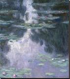 Water Lilies (Nympheas), 1907 Reproducción en lienzo de la lámina por Claude Monet