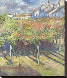 Les Tilleuls a Poissy, 1882 Stretched Canvas Print by Claude Monet