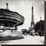 Merry Go Round, Study 1, Paris, France Stretched Canvas Print by Stawiarz Marcin