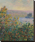 Flower Beds at Vetheuil, 1881 Stretched Canvas Print by Claude Monet