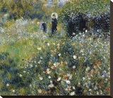 Woman with a Parasol in the Garden, 1875 Stretched Canvas Print by Renoir Pierre-Auguste