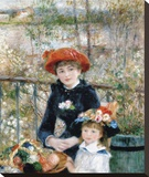 The Two Sisters on the Terrace, 1881 Stretched Canvas Print by Renoir Pierre-Auguste