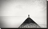 The Man and the Sea, Study 13 Stretched Canvas Print by Marcin Stawiarz