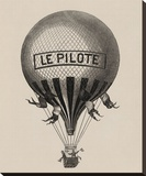 Le Pilote Stretched Canvas Print by Unknown Unknown