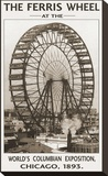 The Ferris Wheel, 1893 Stretched Canvas Print by Unknown Unknown