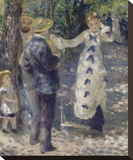 The Swing, 1876 Stretched Canvas Print by Pierre-Auguste Renoir