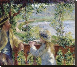 By the Water, ca. 1880 Stretched Canvas Print by Pierre-Auguste Renoir