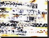 Textollage Stretched Canvas Print by Carolina Pecora