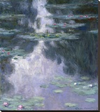 Water Lilies (Nympheas), 1907 Stretched Canvas Print by Monet Claude