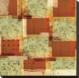 Rusty Pattern Stretched Canvas Print by Carolina Pecora