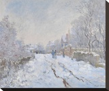 Snow at Argenteuil, 1875 Stretched Canvas Print by Claude Monet