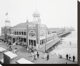 Atlantic City Steel Pier, 1910s Stretched Canvas Print by Unknown Unknown