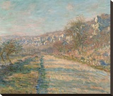 Road of La Roche Guyon, 1880 Stretched Canvas Print by Monet Claude