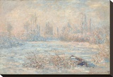 Le Givre, 1880 Stretched Canvas Print by Claude Monet