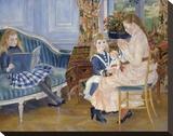 Children's Afternoon at Wargemont, 1884 Stretched Canvas Print by Pierre-Auguste Renoir