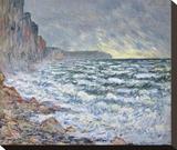 Fécamp, bord de mer, 1881 Stretched Canvas Print by Claude Monet