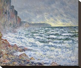 F&#233;camp, bord de mer, 1881 Stretched Canvas Print by Monet Claude