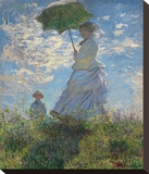 Woman with a Parasol, 1875 Stretched Canvas Print by Monet Claude