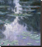 Water Lilies (Nympheas), 1907 Stretched Canvas Print by Claude Monet