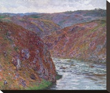 Valley of the Creuse (Gray Day), 1889 Stretched Canvas Print by Claude Monet