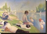 Bathers at Asnieres, 1884 Stretched Canvas Print by Georges Seurat