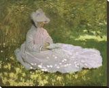 Springtime, 1872 Stretched Canvas Print by Monet Claude