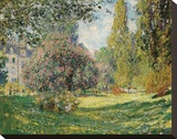 Parc Monceau, 1876 Stretched Canvas Print by Claude Monet