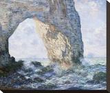 La Manneporte (Etretat), 1883 Stretched Canvas Print by Claude Monet