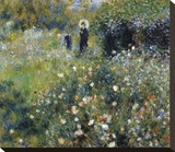 Woman with a Parasol in the Garden, 1875 Stretched Canvas Print by Pierre-Auguste Renoir