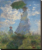 Woman with a Parasol, 1875 Reproduction sur toile tendue par Claude Monet