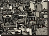 Chimneys of Paris Stretched Canvas Print by Sabri Irmak