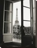 Eiffel Tower through French Doors Stampa su tela di Christian Peacock